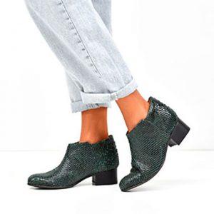 Botas verdes em pele Florence