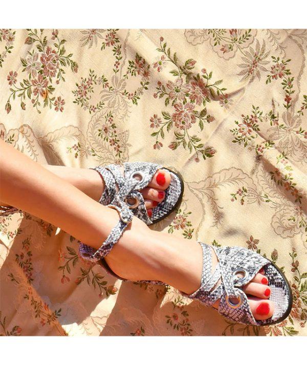 Sandálias em pele Madeleine