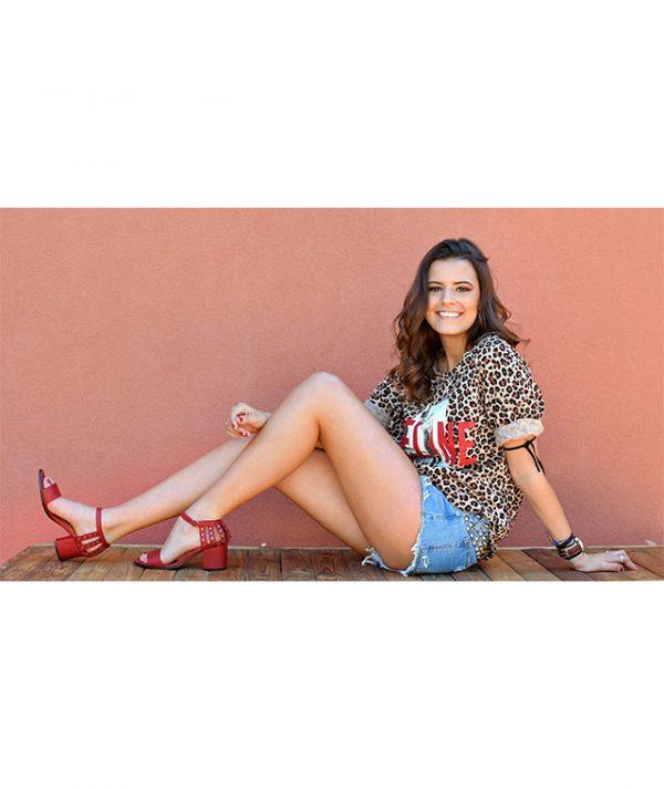 Sandálias Vermelhas Sophie
